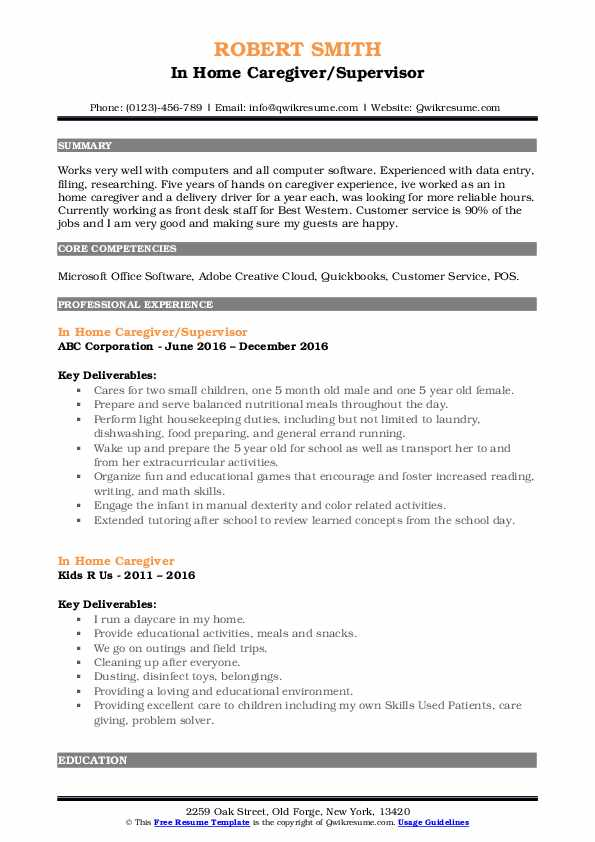 in home caregiver resume samples qwikresume for pdf objective or summary kelly blackwell Resume Resume For Home Caregiver