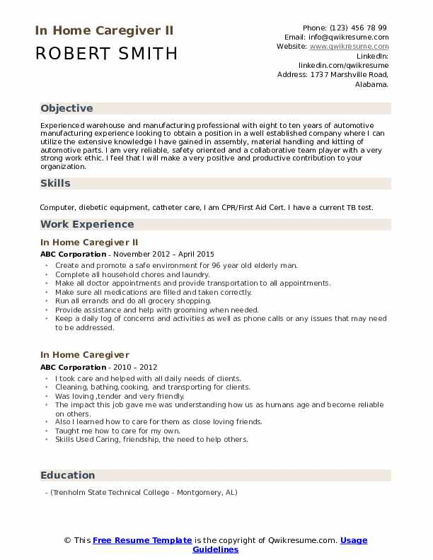 in home caregiver resume samples qwikresume for pdf sample shadowing lab assistant duties Resume Resume For Home Caregiver
