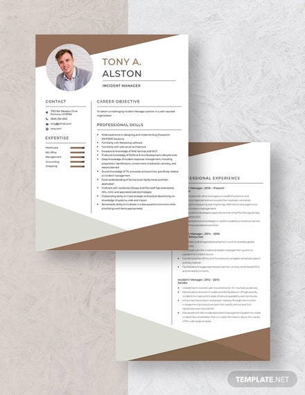 incident manager resume cv template word apple mac with clinical experience sample of Resume Incident Manager Resume