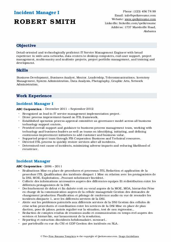 incident manager resume samples qwikresume pdf summary examples for account police Resume Incident Manager Resume