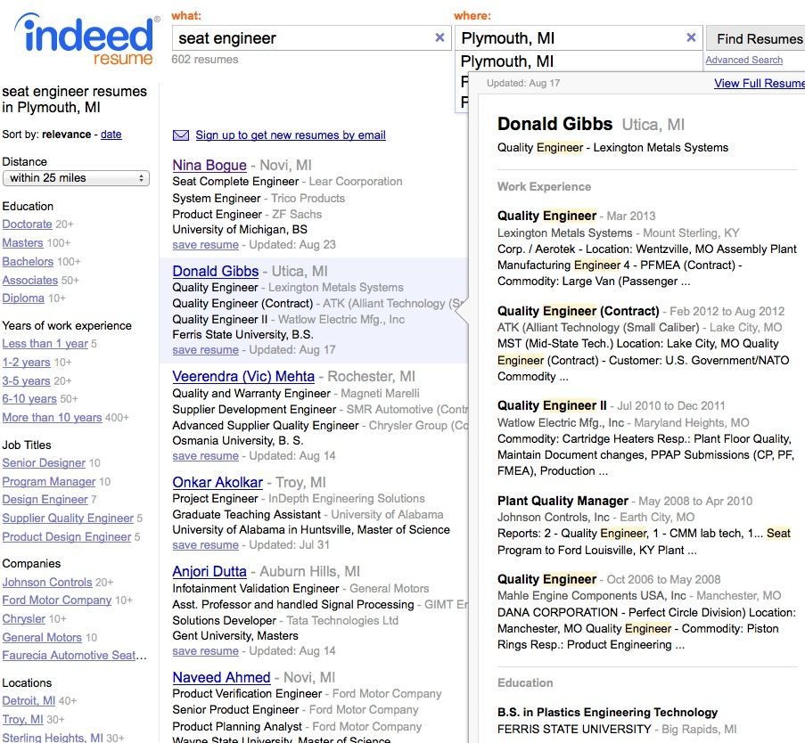 indeed has killed privacy recruitingblogs advanced resume search office work skills for Resume Indeed Advanced Resume Search