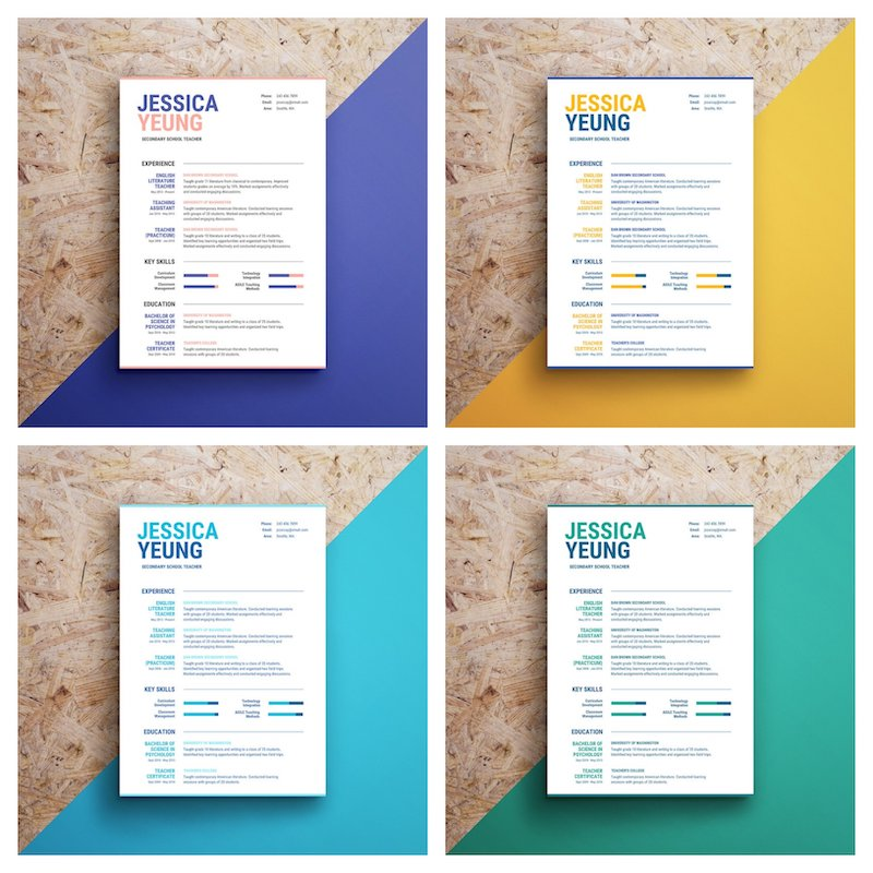 infographic resume template venngage pictorial templates colorful hospital security Resume Pictorial Resume Templates