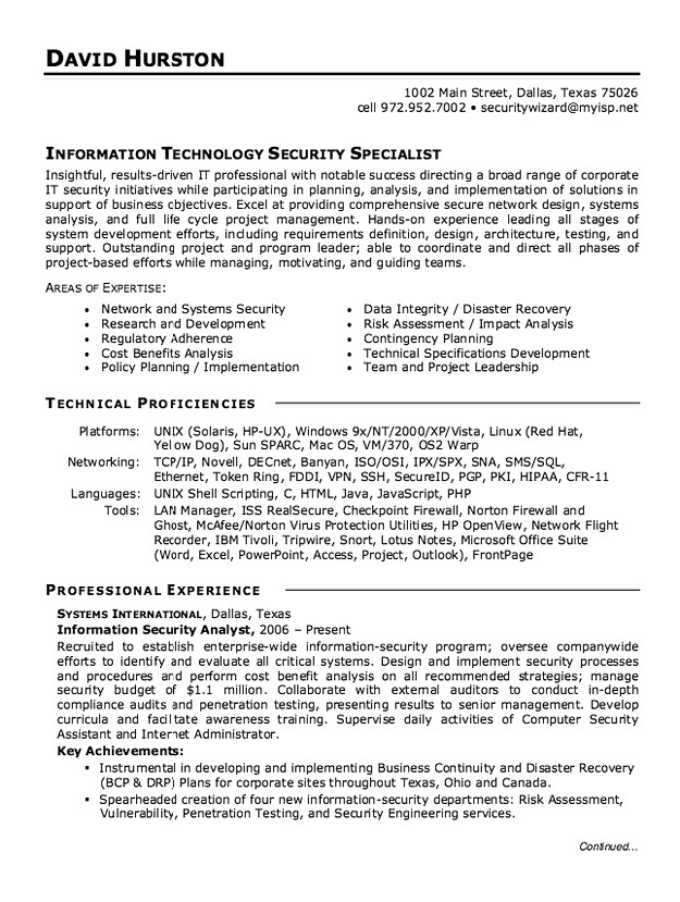 information security analyst resume laboratory manager name title dialysis nurse Resume Security Analyst Resume