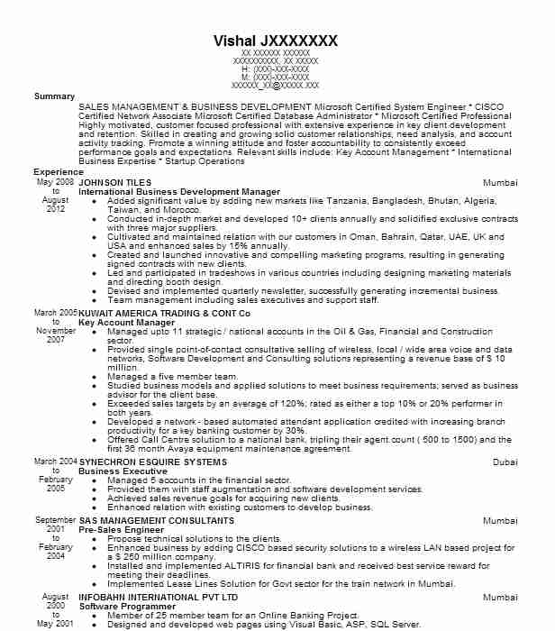 international business development manager resume example victorinox swiss army inc trg Resume Sample Resume For Abroad