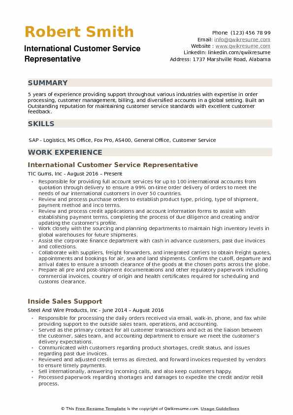 international customer service representative resume samples qwikresume support pdf Resume Customer Support Resume