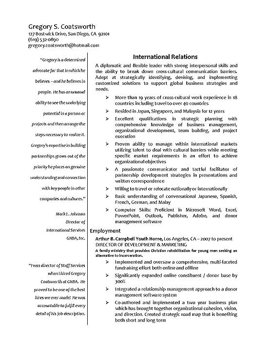 international relations resume example sample for abroad exbc18a linkedin builder ccie Resume Sample Resume For Abroad