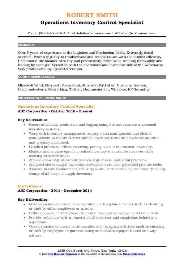 inventory control specialist resume samples qwikresume management pdf font size name Resume Inventory Management Specialist Resume