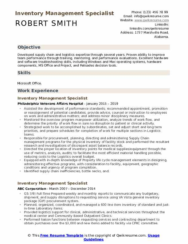 inventory management specialist resume samples qwikresume pdf healthcare coo for Resume Inventory Management Specialist Resume