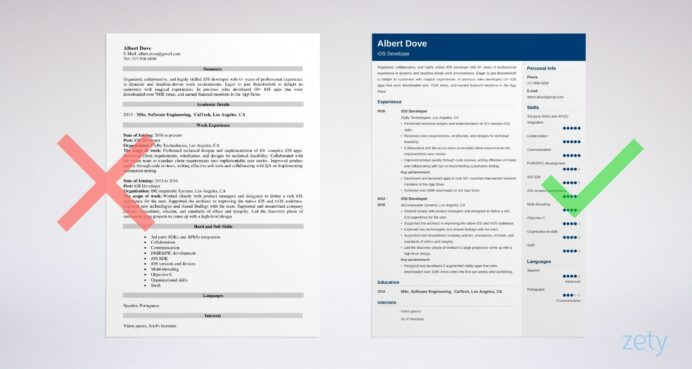 ios developer resume sample writing guide tips make on iphone example experienced hedge Resume Make A Resume On Iphone