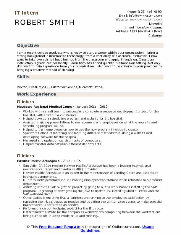 it intern resume samples qwikresume internship examples pdf networking format dental Resume Internship Resume Examples