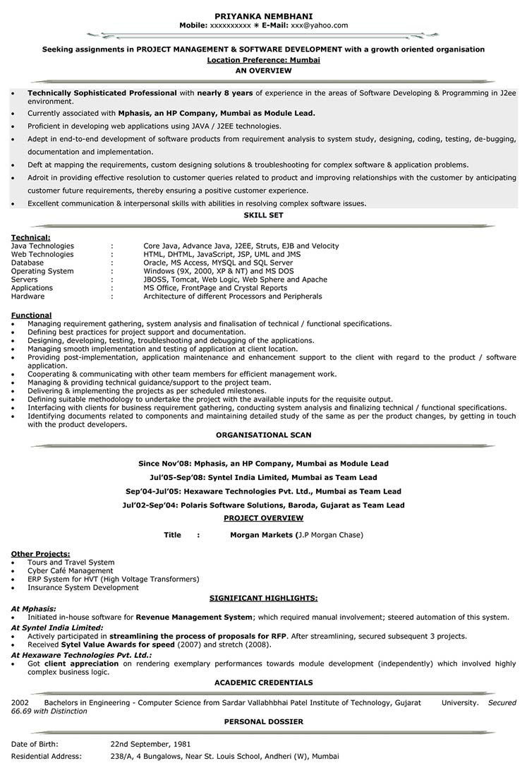 it resume format samples for cv naukri android years experience level v1 sample Resume Android Resume For 2 Years Experience