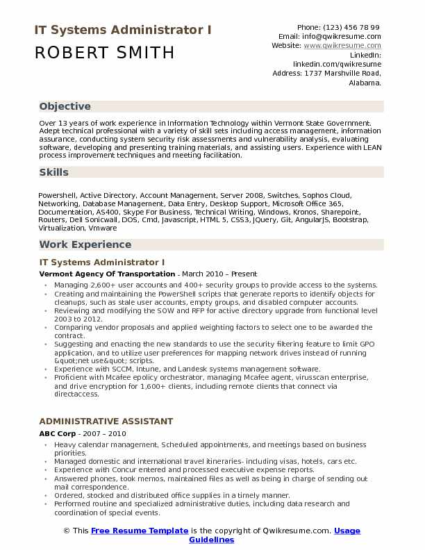 it systems administrator resume samples qwikresume system sample pdf powerful for Resume System Administrator Resume Sample