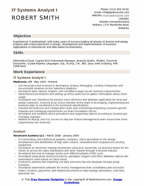it systems analyst resume samples qwikresume system example pdf float pool rn great Resume System Analyst Resume Example