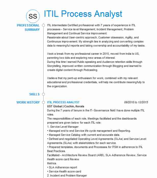 itil process manager resume example kforce staffing devon energy andover certified Resume Itil Certified Resume Examples