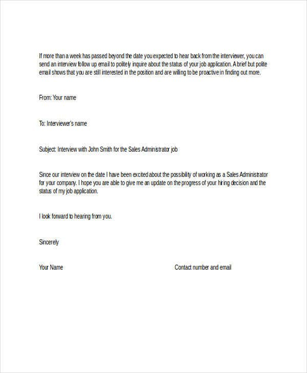 job application follow up email letter templates examples free premium sample after Resume Sample Follow Up Letter After Resume