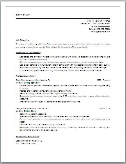 job description for medical billing resume may include but are not coding specialist Resume Resume Format For Medical Coding Job