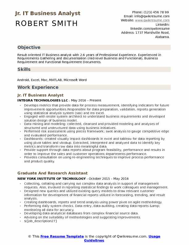 jr business analyst resume samples qwikresume information technology sample pdf student Resume Information Technology Business Analyst Resume Sample