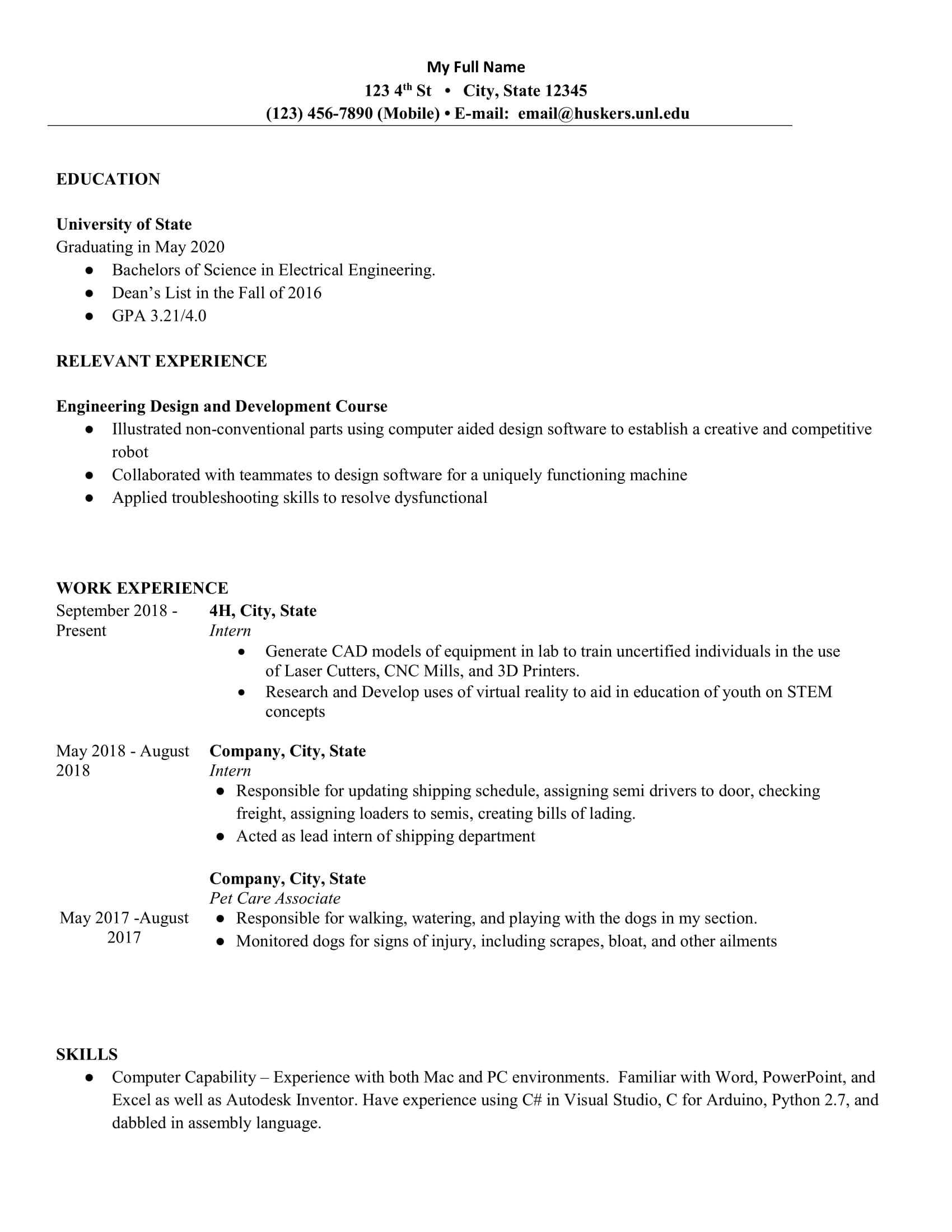 junior electrical engineer looking for internship resumes software intern resume reddit Resume Software Engineer Intern Resume Reddit