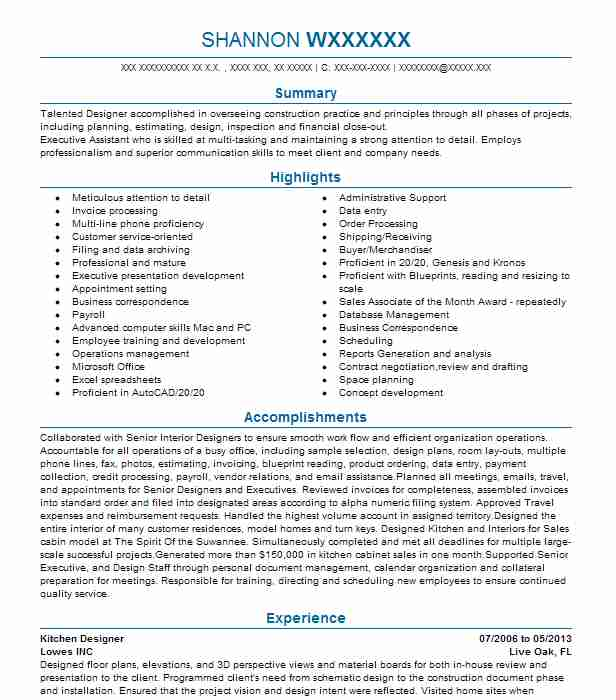 kitchen designer resume example concepts job description for military writing service mds Resume Kitchen Designer Job Description For Resume