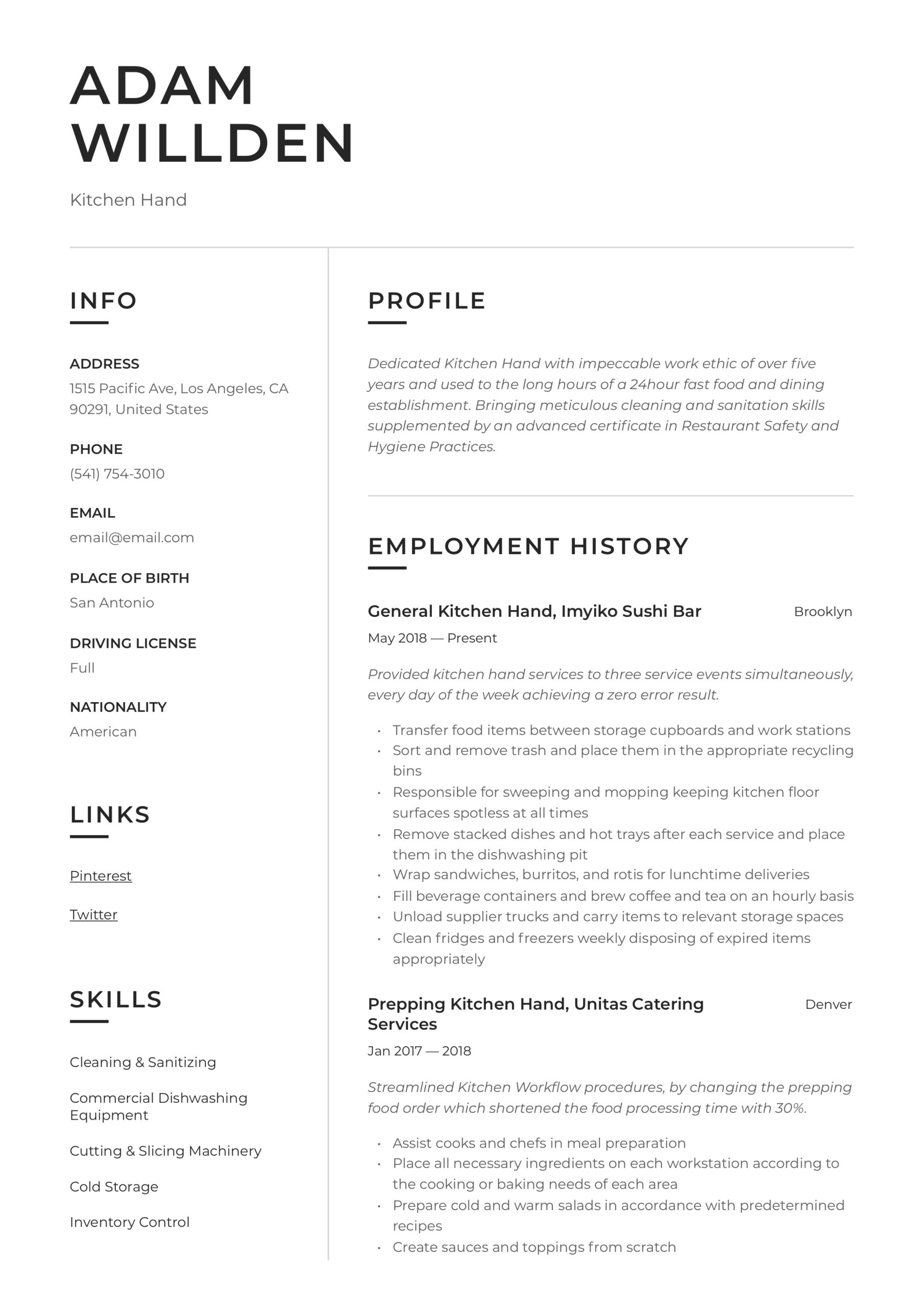 kitchen resume writing guide free templates hands on experience ecu help nanny template Resume Resume Hands On Experience