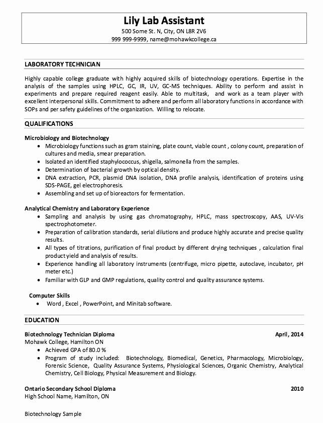 lab assistant job description resume fresh sample laboratory technician resumes medical Resume Lab Assistant Duties Resume