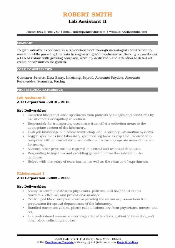 lab assistant resume samples qwikresume duties pdf companion overleaf templates tpa Resume Lab Assistant Duties Resume