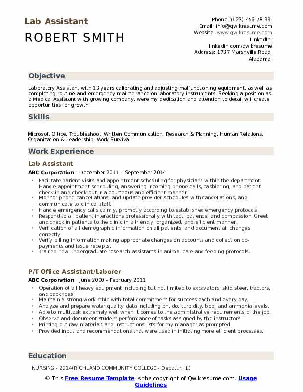 lab assistant resume samples qwikresume duties pdf quick and easy maker oracle identity Resume Lab Assistant Duties Resume