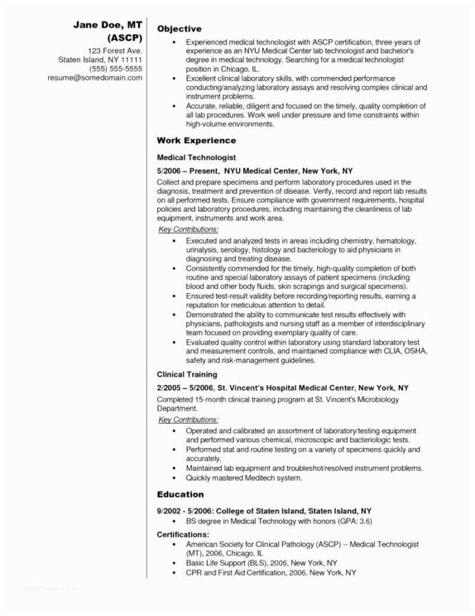lab tech resume examples best technician sample microbiologist medical samples Resume Lab Technician Resume Sample