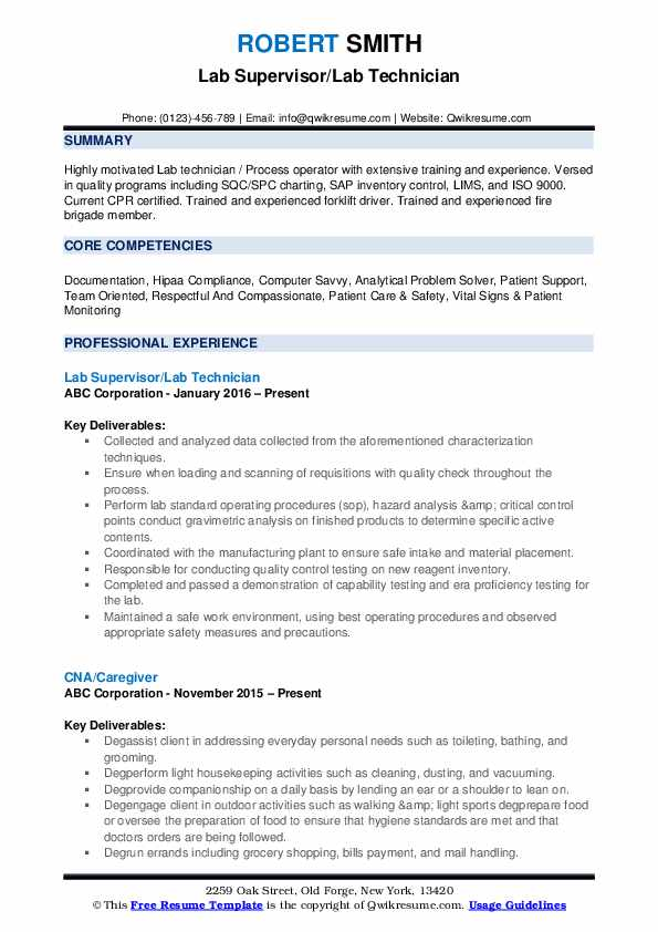 lab technician resume samples qwikresume sample pdf typo on best editor set up mortgage Resume Lab Technician Resume Sample