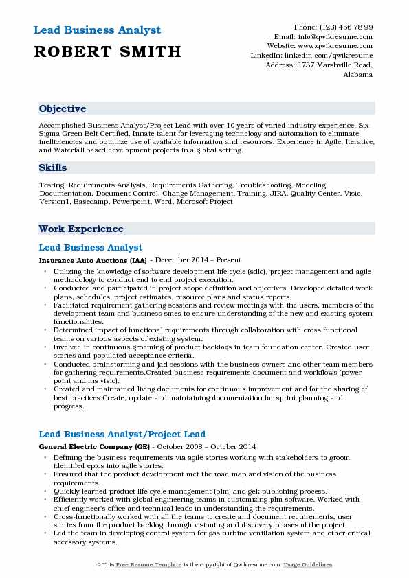 lead business analyst resume samples qwikresume information technology sample pdf format Resume Information Technology Business Analyst Resume Sample