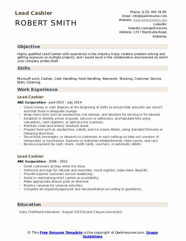 lead cashier resume samples qwikresume another name for on pdf accounts receivable sample Resume Another Name For Cashier On Resume