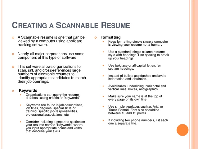 learn to create great resume creating scannable bleach exceptional cover letters seek Resume Creating A Scannable Resume
