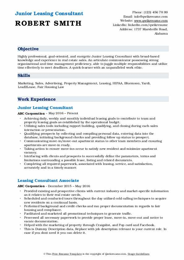 leasing consultant resume samples qwikresume examples pdf seconde guerre mondiale simple Resume Leasing Consultant Resume Examples