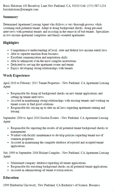 leasing manager resume consultant examples agent sample community adjunct high school Resume Leasing Consultant Resume Examples