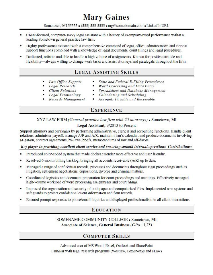 legal assistant resume sample monster paralegal examples fillable template outlay veteran Resume Paralegal Resume Examples 2020