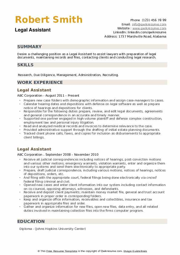 legal assistant resume samples qwikresume examples pdf oil refinery computer science Resume Legal Assistant Resume Examples