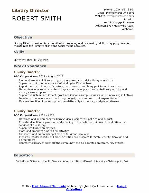 library director resume samples qwikresume sample pdf lpn skills for summary examples Resume Library Director Resume Sample