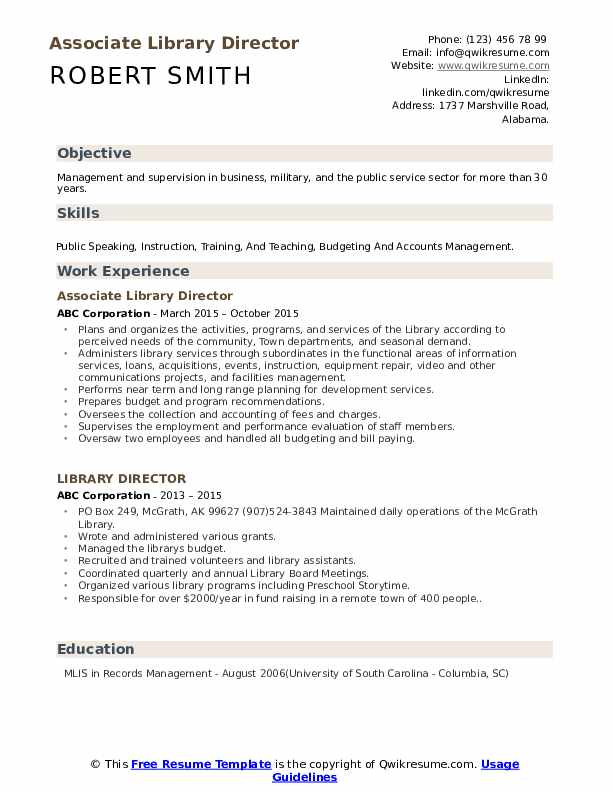 library director resume samples qwikresume sample pdf mortgage consultant trainer Resume Library Director Resume Sample