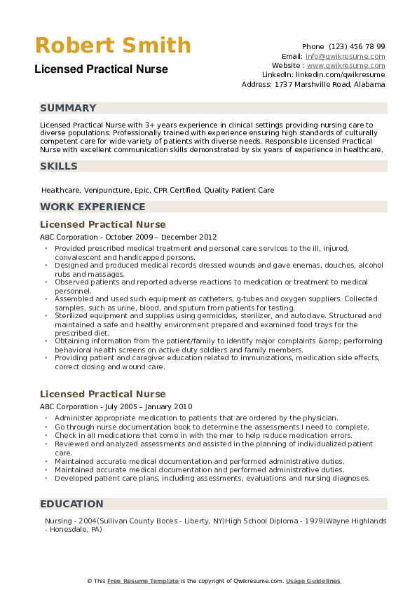 licensed practical nurse resume samples qwikresume lpn clinical experience pdf profile Resume Lpn Clinical Experience Resume