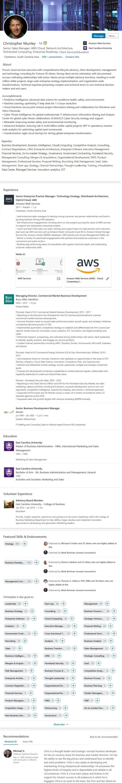 linkedin profile resume example cybersecurity computing virtualization cyber security Resume Cyber Security Resume Reddit
