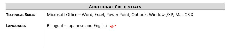 listing languages on resume examples and tips zipjob language skills section example Resume Resume Language Skills Section