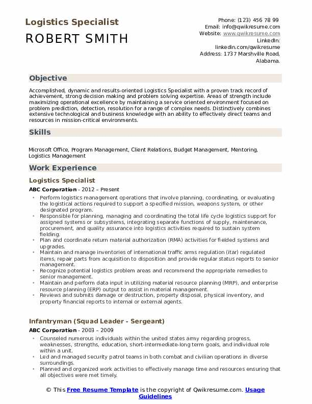 logistics specialist resume samples qwikresume pdf format for finance and accounts please Resume Logistics Specialist Resume