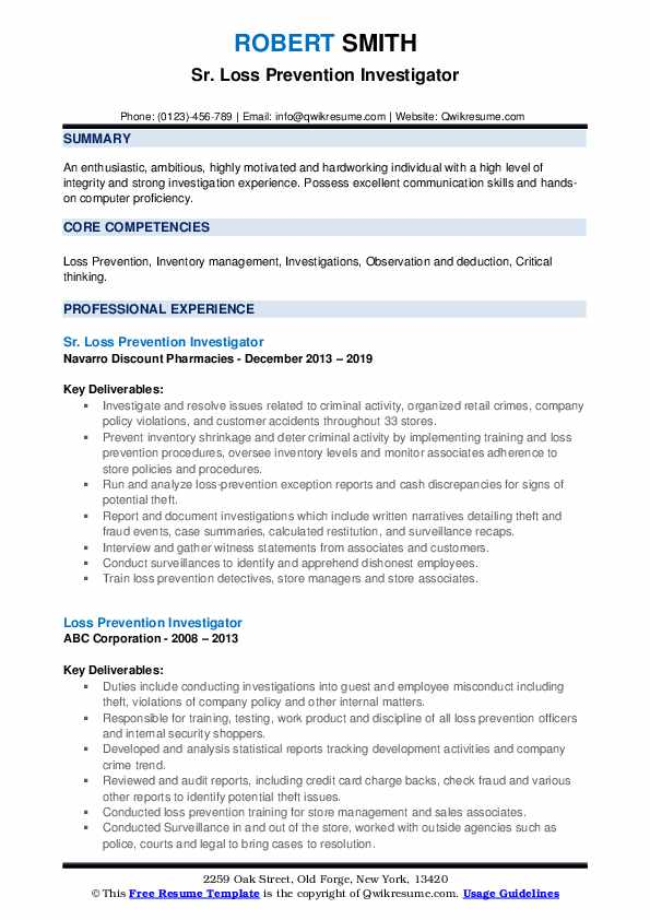loss prevention investigator resume samples qwikresume pdf mistakes examples functional Resume Loss Prevention Investigator Resume