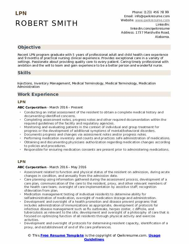 lpn resume samples qwikresume clinical experience pdf first job template for high school Resume Lpn Clinical Experience Resume