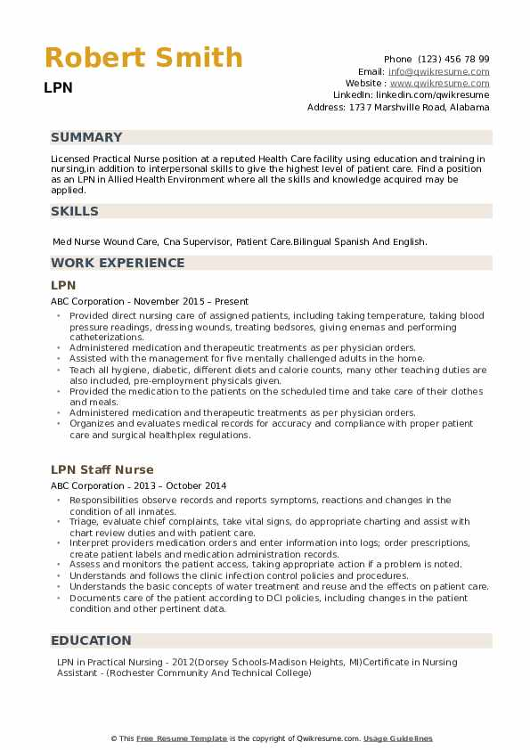 lpn resume samples qwikresume clinical experience pdf profile portion of first job Resume Lpn Clinical Experience Resume
