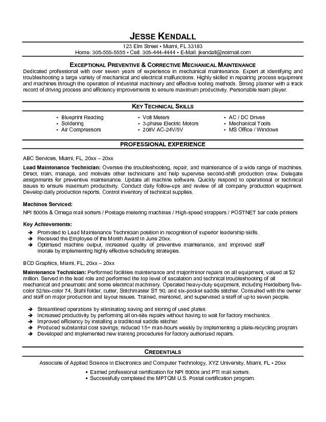 maintenance resume template free latest format job samples engineering civil engineer Resume Maintenance Resume Templates Word