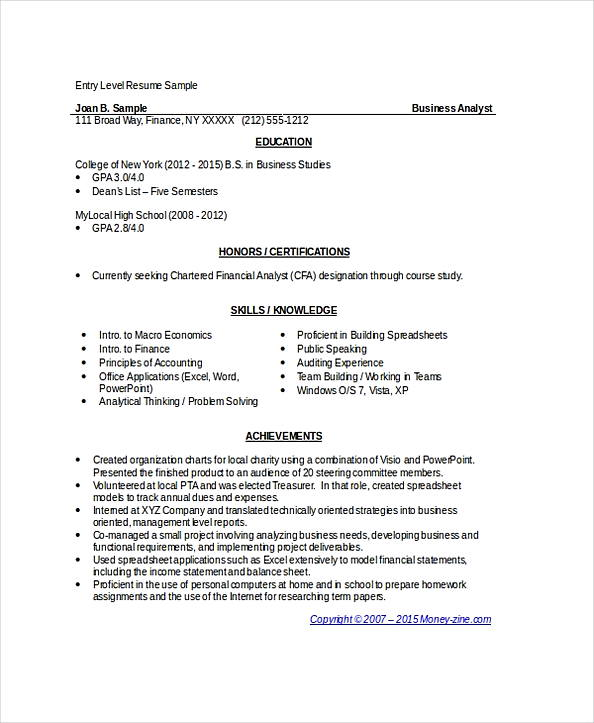 make good business analyst resume indeed entry level sample free best adjectives for Resume Entry Level Business Analyst Resume Indeed