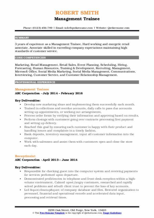 management trainee resume samples qwikresume for freshers pdf responsibilities on project Resume Management Trainee Resume For Freshers