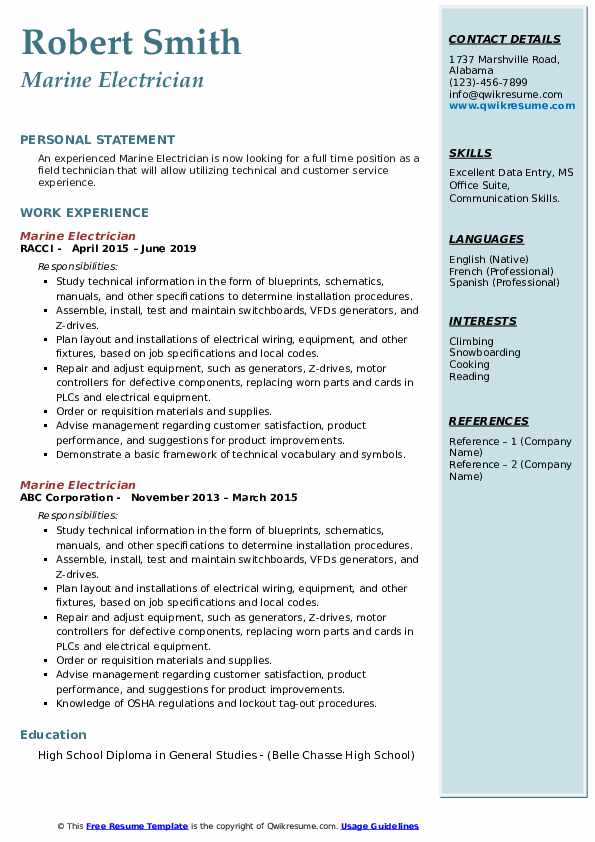marine electrician resume samples qwikresume of experienced engineers pdf free warehouse Resume Resume Of A Experienced Marine Engineers