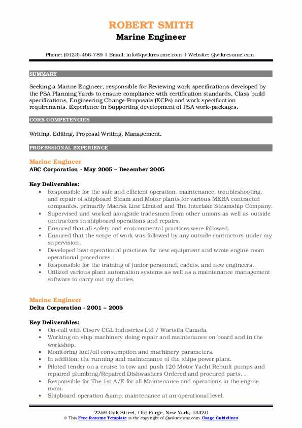 marine engineer resume samples qwikresume of experienced engineers pdf concrete Resume Resume Of A Experienced Marine Engineers